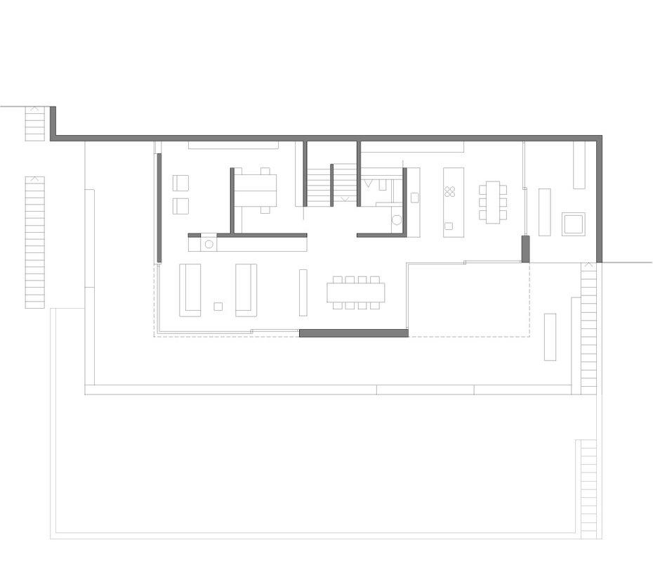 Projekte frei architekten Minimalistisches haus grundriss